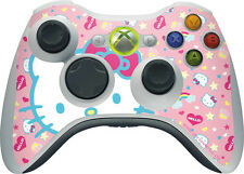 Hello Kitty Pink, Hearts & Rainbows Microsoft Xbox 360 Wireless Controller Skin