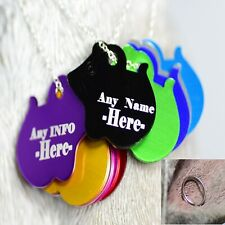 Personalised Pet Tags Engraved Dog Cat Charm Name Collar Animal ID Mouse Tag cat