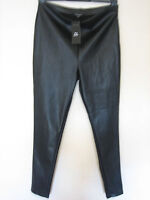 XX13)( NEW & TAGS ) WOMENS BLACK NEW LOOK SKINNY FAUX LEATHER TROUSERS SIZE 14