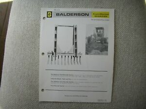 1976 Balderson scarifier specification sheet brochure for Cat G motor grader