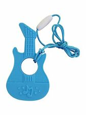 Music Guitar Silicone Teether Soother Teething Sensory Chewy Chewelry BPA...