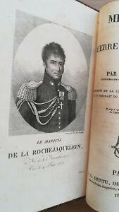 Canuel Mémoires sur la guerre de Vendée en 1815 portrait grande carte originale