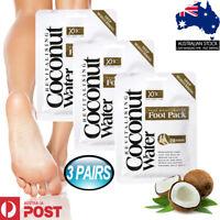 3X Foot Mask Coconut Water Deep Moisturising Intense Feet Repair 20 Minute AU