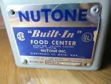 Vintage 1967 Working Nutone Built-IN Blender Food Center Power Motor Model 221