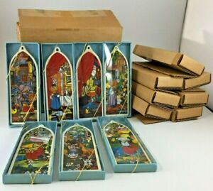 Precious Moments 1989 Beatitudes Window Ornaments Set Of 7 PM890 NEW