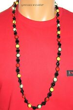 EXCLUSIVE MULTI BEADED NECKLACE, FULL BLING MACRAME CHAIN, ICED OUT DISCO BALLS