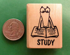 Study Alligator, Teacher's Wood Mounted Rubber Stamp