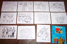 Fantastic Four Animators' Model Sheets Hanna Barbera Artist Reference Guide