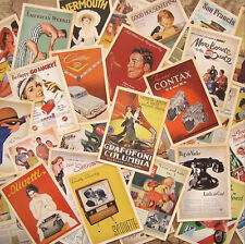 32 pcs Vintage Retro Posters Old Advertising Postcards Wall Decoration Cards Set