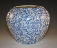 c.1888, ANTIQUE ROYAL WORCESTER BLUE CHINTZ VASE, ENGLAND