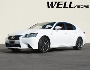 WellVisors For 13-20 Lexus GS-Series CHROME TRIM Side Window Visors Rain Guard