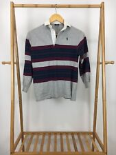 Vtg Polo Ralph Lauren Boy's Rugby Long Sleeve Shirt Size Youth S Usa