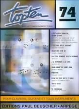 Partition pour voix - Top Ten 74 - Patrick Bruel, Mylène Farmer... Topten