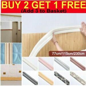 230cm 3D Wallpaper Sticker Waterproof Skirting Border Self Adhesive Home Decor