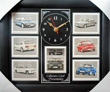 Ford RS Performance Models 1983-92 Stunning Collector Cards Wall Clock