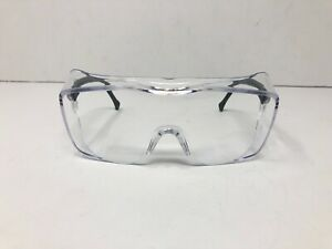 3M OX Black Frame Safety Glasses With Clear Anti-Fog Lens