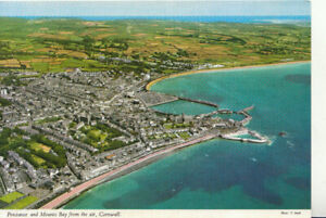 Cornwall Postcard - Penzance and Mounts Bay From The Air - Ref TZ6047