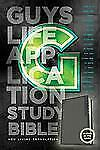 NLT Guys Life Application Study Bible (2013, Black Glow in the Dark Leatherlike)