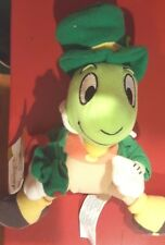 "a Disney 8"" Jiminy Cricket St Patrick's Day Mini Bean Bag Beanie w/tags Irish"