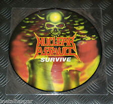 Nuclear Assault 'Survive' Under One Flag UK '88 ORG Pic LP Picture Disc Rare OOP