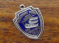 Vintage silver CALIFORNIA STATE FISHERMAN'S WHARF SAN FRANCISCO SHIELD charm #E2