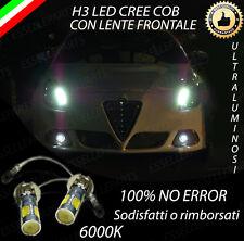 LAMPADE FENDINEBBIA H3 LED CREE COB CANBUS 6000K ALFA ROMEO GIULIETTA 2010+