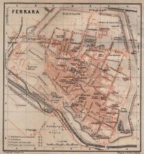 FERRARA ANTICA CITTA 'CITY Pianoforte piano urbanistico. ITALIA MAPPA 1906 VECCHIO