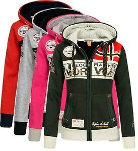 Geographical Norway Damen Sweat Jacke sweatshirt Hoodie übergangsjacke Flyer-Lad