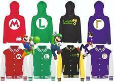 Super Mario Bros Varsity Jacket Luigi's Mansion Waluigi Gooigi Hoodie