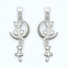 Earrings with Cats on the Moon Facing Star