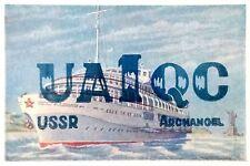 Vintage QSL Card, UA1QC, Archangel USSR,1959