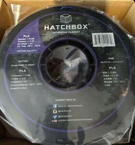 NEW HATCHBOX PLA 3D Printer Filaments 1Kg Spool Blue 1.75mm & Stand, quick ship!