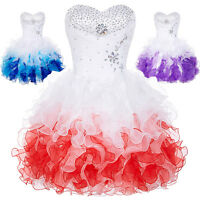 Women Short Formal Prom Cocktail Ball Evening Gown Party Wedding Bridal Dresses