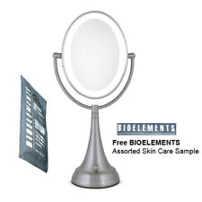 Zadro LEDOVLV410 LED Lighted Oval Table Top Vanity Mirror w/ Bioelements Sample
