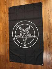 VERTICAL Baphomet Satan Satanic Flag 5 ft X 3 ft  Leviathan USA Seller