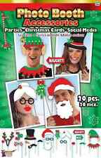 Photo Booth Accessories Christmas Holiday Party Favor Toy Fun Activity Kit Set