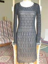 NWT Peruvian Connection Black Pima Cotton Carmen Dress M