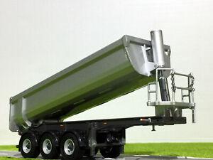 halfpipe trailer 3 axle in silver,WSI truck models 03-2000