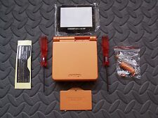Game Boy Advance SP Replacement Housing Shell Orange + Screen Lens