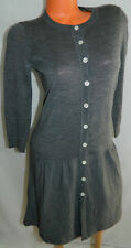VERA WANG Lavender Label SWEATER Shirt DRESS Medium 8 10 Fit Flare GRAY Chic!! z