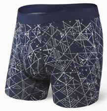 Saxx Underwear Platinum Fly Boxer Brief - Navy Pathfinder - size S M L XL 2X