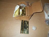 """Utility Hinge Brass Finish 1-1//2/'/' Tall and 7//8/"""" Wide  ~ 1 Bid Buys 2 Hinges"""