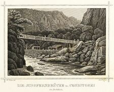 THALE - JUNGFERNBRÜCKE - Brückner - Stahlstich 1854