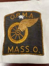 Vintage O.P.M.A. Massilon Ohio Winged-Wheel patch emblem motorcycle memorabilia