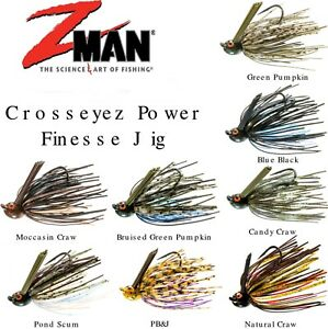 Z Man Crosseyez Power Finesse Jigs - Choose Size / Color
