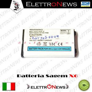 Batteria compatibile Lithium-ion Sagem  X6 - 3.6 V - 900 mAh