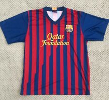 Mens Fcb Qatar Foundation Soccer Jersey Medium Messi #10 Unicef