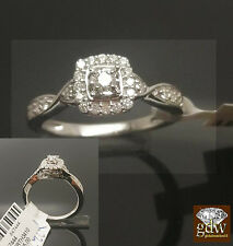 Women 10k White Gold 0.33Ct Diamonds,Solitaire In Center,Engagement,Wedding,Ring