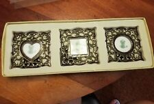 Lot Of 3 Small Picture Frames metal small set square frame