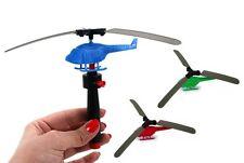 4x Hubschrauber mit Abschießer ca. 9cm - Mitgebsel Kindergeburtstag Tombola